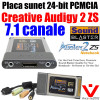 Placa sunet laptop ► Creative Sound Blaster Audigy 2ZS PCMCIA ►7.1 ch ►optic I/O