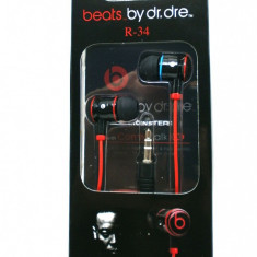 Casti ibeats monster beats by dr dre pt iphone, ipod sau mp3 player model negru - Casti Telefon, In ureche
