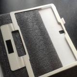 Husa tableta Samsung T800, T805, Galaxy Tab S 10.5, Culoare Alba, porturi