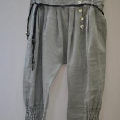 Pantaloni dama - PANTALONI TREI SFERT DE IN CU TUR LASAT TALIE UNICA