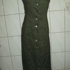 Rochie Esprit, originala, masura 36, noua, foarte eleganta, superba - Rochie de zi Esprit, Culoare: Khaki, Maxi, Cu bretele