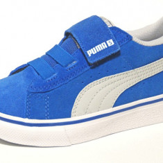 ADIDASI COPII Puma VULC Leather ORIGINALI 100% din germania nr 22, Culoare: Albastru