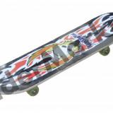 Skateboard multicolor cu roti din silicon 78 x 20 x 1.1 cm, Barbati