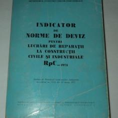 Carti Constructii - Indicator norme deviz lucrari reparatii constructii civile industriale Rpc 1973