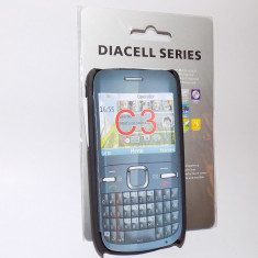 Husa Nokia C3 si folie de protectie Nokia C3, Nokia C3-00, Negru, Carcasa