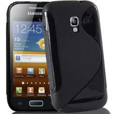Husa Samsung Galaxy Ace 2 i8160 TPU S-LINE Black, Negru, Gel TPU, Carcasa, Fara snur