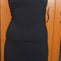 Rochie neagra scurta mulata sexy cu spatele gol H&M marimea S M - Rochie de zi H&m, Marime: S, Culoare: Negru, Cu bretele
