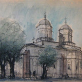 Tablou, Religie, Acuarela, Realism - Acuarela 4 - Vasilescu Laurentiu