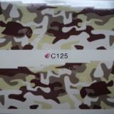 Tatuaj transfer pe baza de apa sticker pentru decorare unghii Full Tip C 125 - Unghii modele