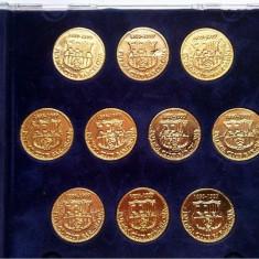 Monede Straine, Europa, Aur - Set monede de aur-Coleccion Las Monedas de Oro de las Copas del Barca