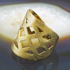 Inel placate cu aur - Inel Placat cu Aur 18K, cod 896