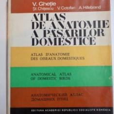 ATLAS DE ANATOMIE A PASARILOR DOMESTICE de V. GHETE, ST. CHITESCU, V. COTOFAN, A. HILLEBRAND, 1976