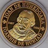 Medalii Romania - Medalie bronz suflat cu aur Iancu de Hunedoara Castelul Corvinulor Hunyad Castle