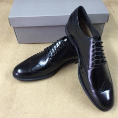 Pantofi PIELE NATURALA negru marimie 40-45 - Pantofi barbati, Marime: 44