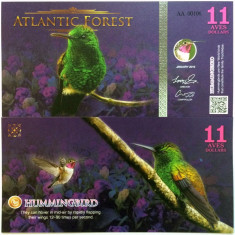 ATLANTIC FOREST- 11 AVES 2016(2015)- UNC!! - bancnota america