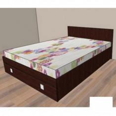 Mobila de dormitor - Pat cu un sertar Raul 1 - stejar rustic 634