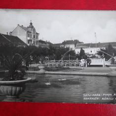 Vedere - Carte postala - Satu - Mare - Piata Reg. Carol, Necirculata, Fotografie