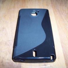 Husa silicon S-line neagra pentru telefon Sony Xperia Sola (MT27i)