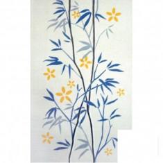 Faianta decorativa Lines albastru alb - 25 x 40 cm