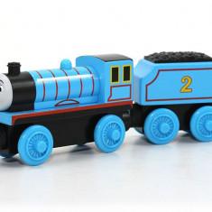 Locomotiva Edward, colectia Thomas si prietenii sai, Fisher Price - Trenulet de jucarie Fisher Price, 4-6 ani, Lemn, Unisex
