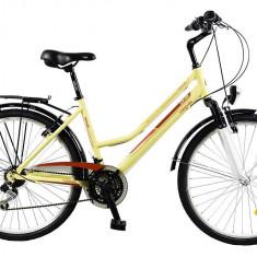 Bicicleta TRAVEL 2654 - model 2015-Crem-430 mm - Bicicleta de oras DHS, Aluminiu