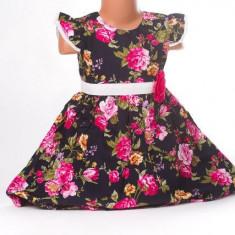 Haine dama - Rochita de fetite cu model cu trandafiri colorati - BBN1116