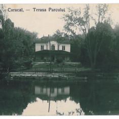 Carte Postala, Circulata, Printata - 3190 - Olt, CARACAL, Terasa Parcului - old postcard, real PHOTO - used
