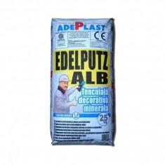 Tencuiala decorativa minerala Edelputz alb - 25 kg - Malaxor constructii