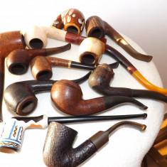 Colectie de pipe(12 buc.) de marca+suport pentru 4 pipe.Mega reducere! - Pipa