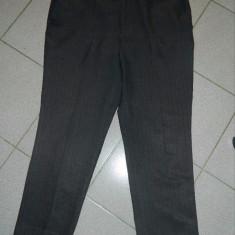 Pantaloni barbati, 2XL, Lungi, Poliester - Pantaloni de stofa, marime XXL, marimea 56, pentru barbati, gri cu dungi