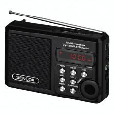 Sencor Aparat radio Sencor SRD215B, portabil, 2 W, USB, micro SD, negru