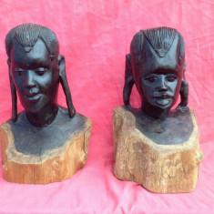 Arta din Africa - Arta Africana - Cuplu African realizat din lemn de abanos !!!