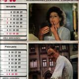 Calendar cu actori români din 1986 (Gong'86)