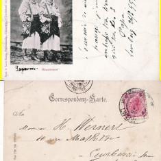 Port popular din Bucovina- tipuri-clasica, rara - Carte Postala Bucovina pana la 1904, Circulata, Printata
