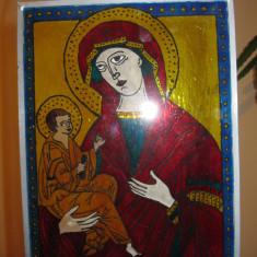 Decoratie tip vitraliu pentru perete sau fereastra, tablou pe sticla ICOANA - Icoana pe sticla