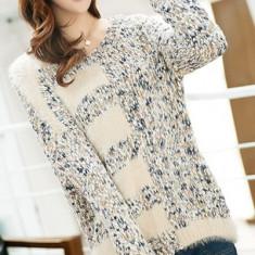 Bluza dama - BL266-4 Bluza casual cu mohair si tricot