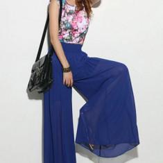 Pantaloni dama - CL372-4 Pantaloni largi cu talie inalta
