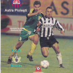 Program meci fotbal ASTRA PLOIESTI - FCM BACAU (2001)