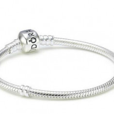 Bratara din argint - Bratara tip Pandora S 925 Ale stantat placata cu argint +charm-uri cadou