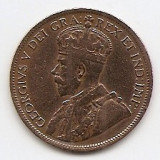 """Canada 1 Cent 1918 - George V (with """"DEI GRA"""") 25.4 mm KM# 21, America Centrala si de Sud, An: 1918"""