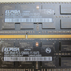 Kit memorie so dimm 8gb ddr3 (2x4gb)ddr3 1600mhz originali pt MacBook Pro, iMac - Memorie RAM laptop Apple, Dual channel