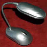 Veioza cu 8 leduri, braţ flexibil, ideală pt. iluminat tastatura pc