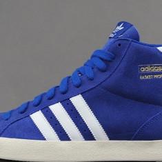 Ghete barbati Adidas, Piele intoarsa - Ghete Adidas Basket Profi Originale 100%, Noi In cutie, Albastru, Pret F. Bun !!