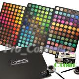 Trusa make up - Trusa Machiaj 252 culori MAC farduri mate si sidefate + CADOU Eyeliner Gel
