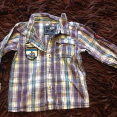 Camasa, camasuta pentru baieti, 1-2 ani, Name it, mov in carouri, 80-86 cm