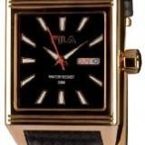Ceas barbatesc, Elegant, Mecanic-Automatic, Placat cu aur, Piele, Ziua si data - Ceas Automatic Fila, placat cu aur