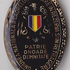 Insigna Uniunea Nationala a Cadrelor Militare in Rezerva si in Retragere 1996
