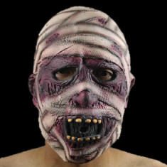 Masca carnaval - Masca latex mumie horror latex petrecere tematica Halloween bal craciun +CADOU!