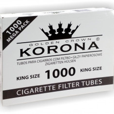 Foite tigari - TUBURI KORONA 1000 tuburi tigari, filtre tigari pentru injectat tutun