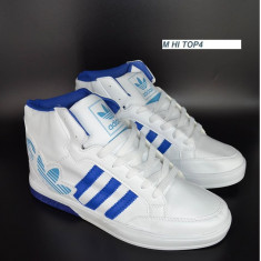 Ghete barbati Adidas, Piele sintetica - Gheata barbateasca ADIDAS - alb cu albastru